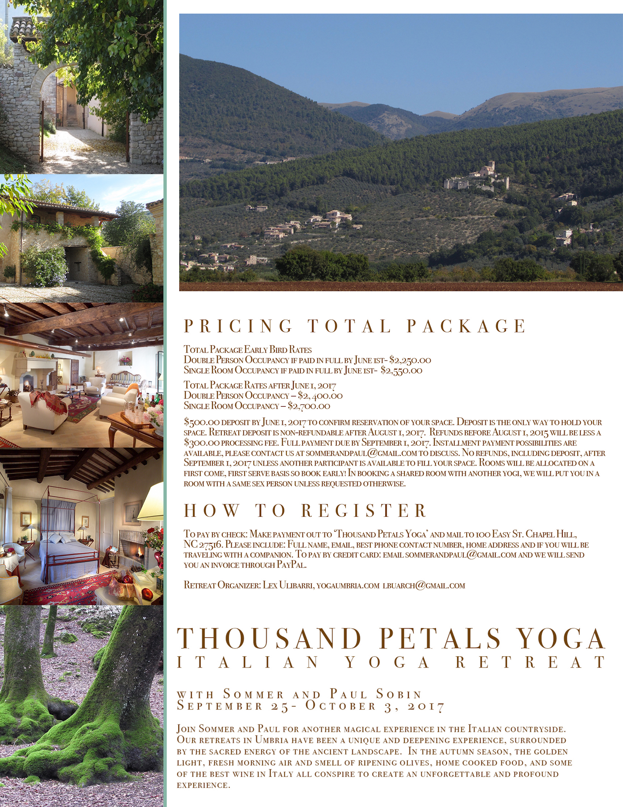 Thousand Petals Italian Yoga Retreat with Sommer and Paul